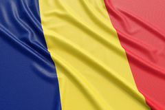 Chad Flag Lizenzfreie Stockfotos
