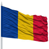 Chad Flag on Flagpole Royalty Free Stock Photos
