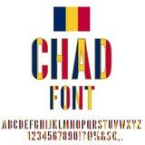 Chad Flag Font Lizenzfreies Stockbild