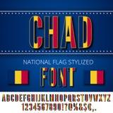 Chad Flag Font Stock Photo