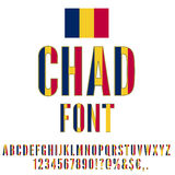 Chad Flag Font Royalty Free Stock Image