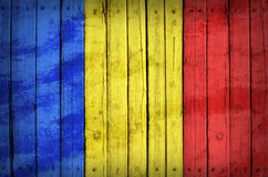Chad flag painted on wooden boards Stock Image