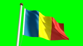 Chad flag Royalty Free Stock Images