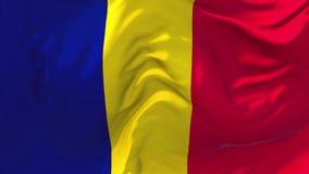 210 Chad Flag Waving Wind-im ununterbrochenen nahtlosen Schleifen-Hintergrund lizenzfreie abbildung