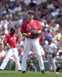 Chad Fox. Boston Red Sox pitcher Chad Fox. Image taken from color slide royalty free stock photography