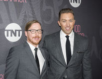 Chad Hodge, Blake Crouch. New York, NY, USA - November 14, 2016: Executive Producers Blake CrouchL and Chad Hodge attend TNT's Good Behavior Premiere Event at Royalty Free Stock Photo