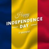 Chad Independence Day 11 de agosto bandera que agita Vector Fotografía de archivo