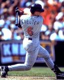 Chad Kreuter, catcher αγγέλων του Αναχάιμ Στοκ Εικόνα