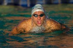 Chad Le Clos-Athlete Swimmer. Chad Le Clos training the last few sessions at home before heading to London Olympics. Telephoto lens of athlete close up in Royalty Free Stock Photography
