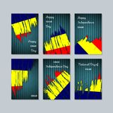 Chad Patriotic Cards für Nationaltag Lizenzfreie Stockfotos
