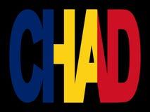 Chad text with flag Stock Photos