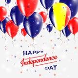 Chad Vector Patriotic Poster Fond de grunge de l'indépendance Day Illustration Libre de Droits