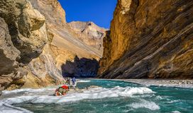 Chadar trek, Zanskar, India Royalty Free Stock Photos