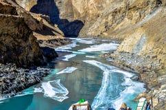 Chadar-Wanderung Stockbilder