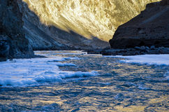 Chadar-Wanderung lizenzfreie stockfotos