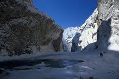 Chaddar Wanderer Stockfotos