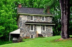 Chadds Ford, PA: John Chads' Home. Chadds Ford, Pennsylvania:  The historic 1725 fieldstone John Chads' House remains essentially in its original condition Stock Photo