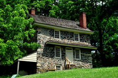 Chadds Ford, PA: John Chads' Home. Chadds Ford, Pennsylvania:  The historic 1725 fieldstone John Chads' House remains essentially in its original condition Royalty Free Stock Images