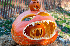 CHADDS FORD, PA - OCTOBER 26: The Great Pumpkin Carve carving contest on October 26, 2013 stock images