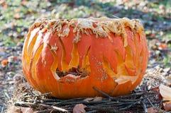 CHADDS FORD, PA - PAŹDZIERNIK 26: Wielka bania Rzeźbi cyzelowanie konkurs na Październiku 26, 2013 Fotografia Stock