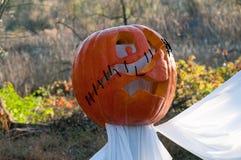 CHADDS FORD, PA - PAŹDZIERNIK 26: Wielka bania Rzeźbi cyzelowanie konkurs na Październiku 26, 2013 Obraz Stock