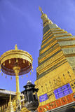 Chadi Phra That Cho Hae in Wat Phra That Cho Hae old temple. Royalty Free Stock Image