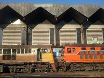 Chadow en kleuren Thaise trein Royalty-vrije Stock Afbeelding