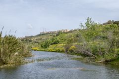 Chadwick Lakes Malta countryside. Malta countryside Chadwick Lakes Stock Image