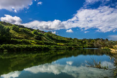 Chadwick Lakes, Malta. Shot at chadwick lakes after a rainy day Royalty Free Stock Photography