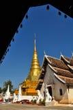 chae haeng Nan phra gubernialny Thailand wat Obraz Royalty Free