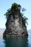 Chaew Lan水坝有趣的评论 图库摄影