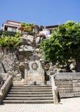 Chafariz da Bica (Bica Fontain),巴洛克式的例子在Castelo诺沃,贝拉Baixa,葡萄牙 图库摄影
