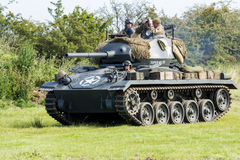 Chaffee Tank e squadra leggeri americani immagini stock libere da diritti