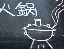 Chafing dish paint Stock Images