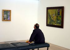 At Chagal Exhibition Royalty Free Stock Image