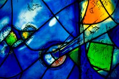 Chagall Window Detail Royalty Free Stock Photo