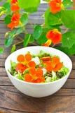 A chagas da salada floresce a tabela escura Fotos de Stock