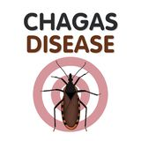Chagas Disease, morsure d'insecte de baisers illustration stock