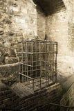 Chage della prigione in una camera di tortura da Praga Fotografia Stock