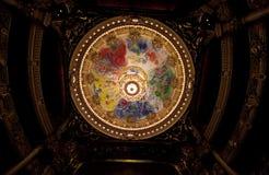 Chaggal geschilderd dak bij de Opera DE Parijs, Palais Garnier. royalty-vrije stock foto's