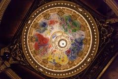 Chaggal ha dipinto il tetto all'opera de Parigi, Palais Garnier. Immagine Stock