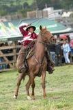 Chagra kowbojski działanie lasso przy rodeo w Ekwador Obraz Royalty Free