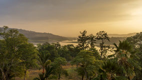 Chagres River in Panama at Dawn Stock Photo