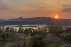 Chagres River at Sunrise - Panama Stock Photo