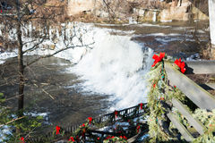 Free Chagrin Falls In The Winter Royalty Free Stock Image - 58762846