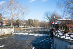 Chagrin Falls in Ohio Royalty Free Stock Image