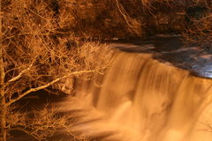 Chagrin Falls In Winter stock photos