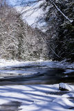 Chagrin River. A view of the Chagrin River in Bentleyville, Ohio stock images