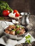 Chahohbili. Ragú georgiano del pollo. fotografía de archivo libre de regalías