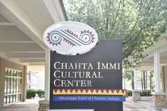 Chahta Immi Cultural Center, Mississippi Band of Choctaw Indians. The Chahta Immi Cultural Center aims to preserve and promote Choctaw history, culture and stock photography